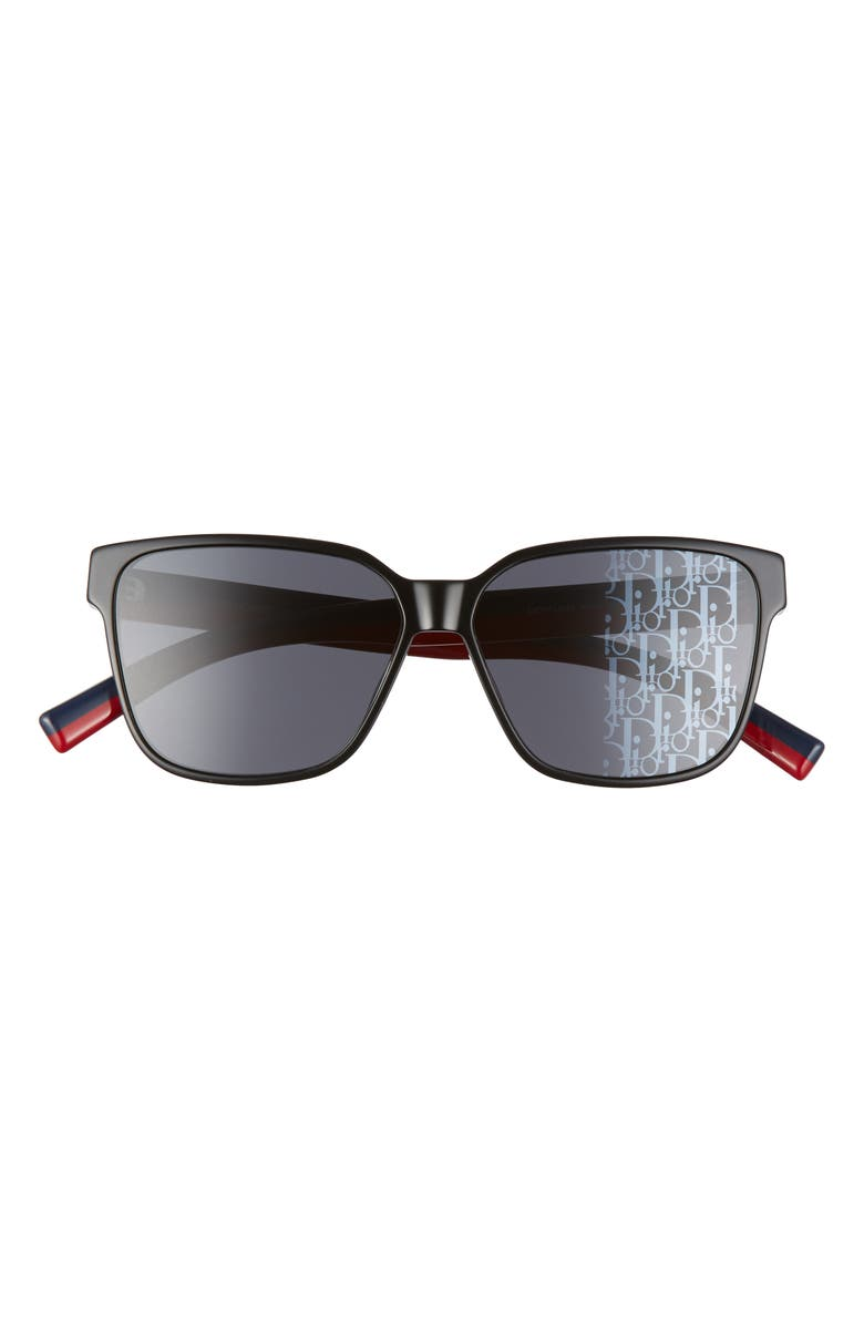 DIOR HOMME Dior Flag3 59mm Mirrored Sunglasses, Main, color, 001