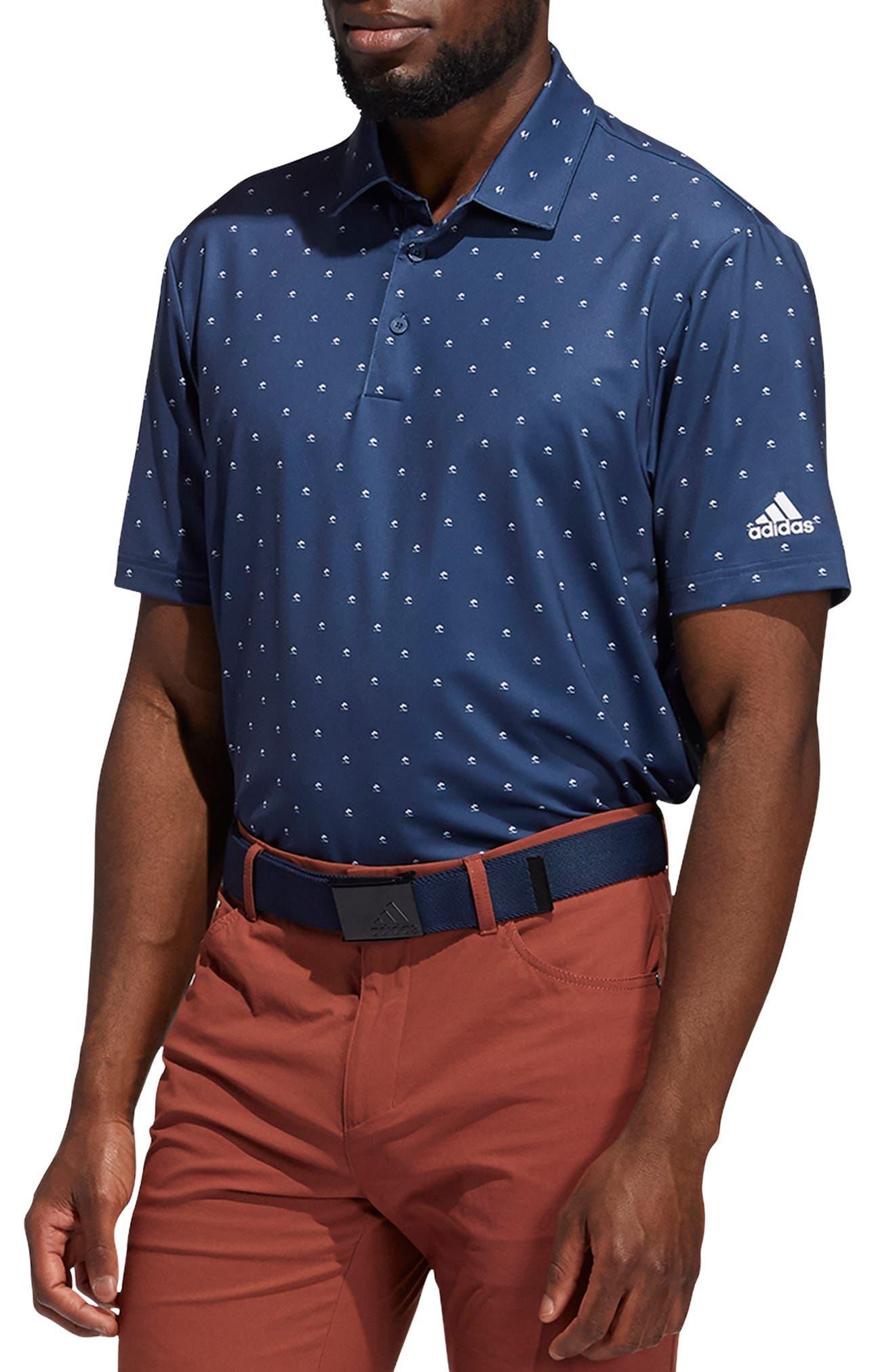Men's Adidas Golf Ultimate 365 Performance Print Polo