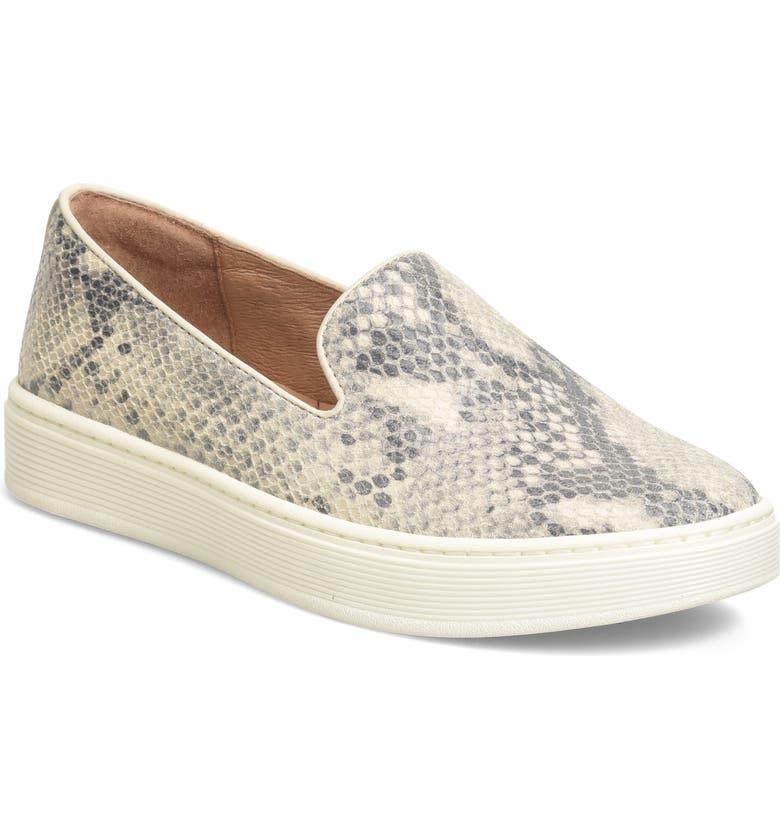 SÖFFT 'Somers' Slip-On Sneaker, Main, color, BLACK-CREAM SNAKE PRINT