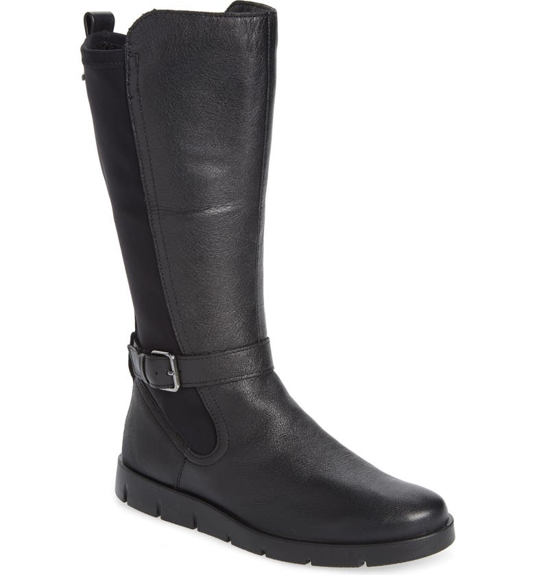 ECCO Bella Water Resistant Tall Boot, Main, color, BLACK LEATHER