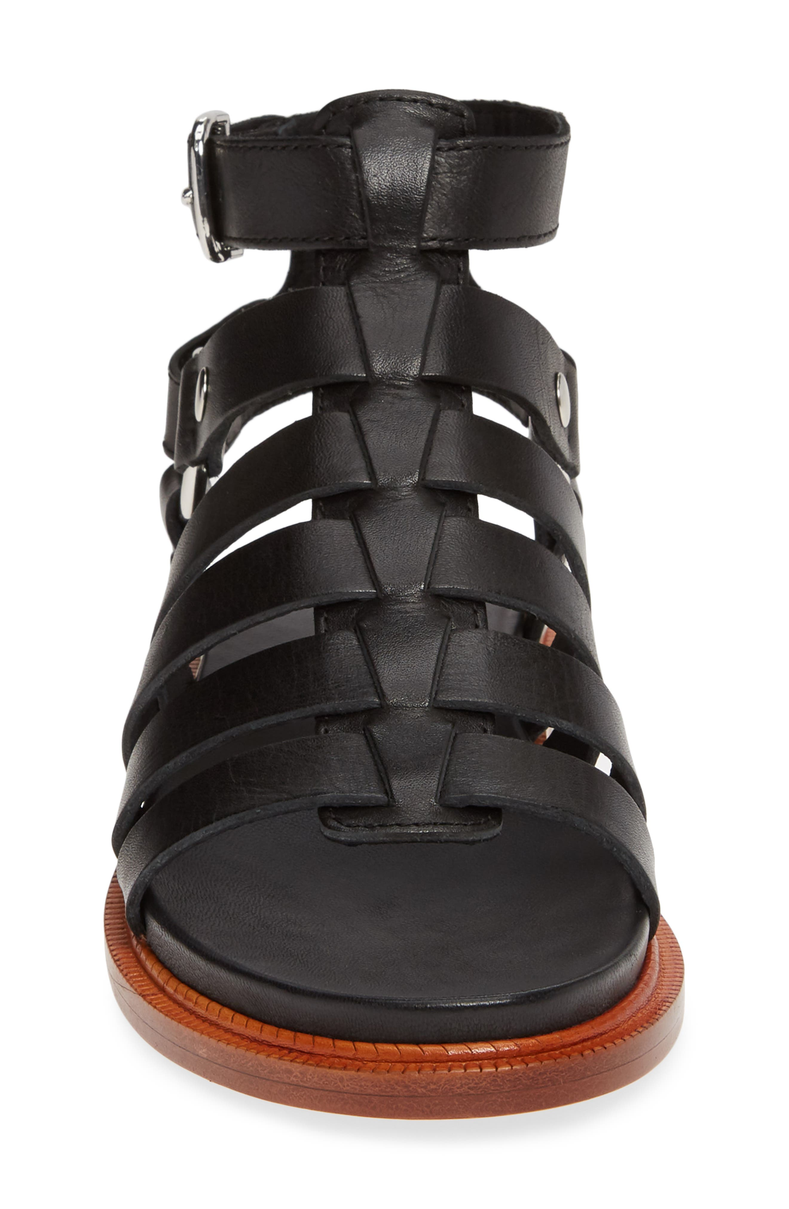 ,                             Andora Gladiator Sandal,                             Alternate thumbnail 5, color,                             BLACK