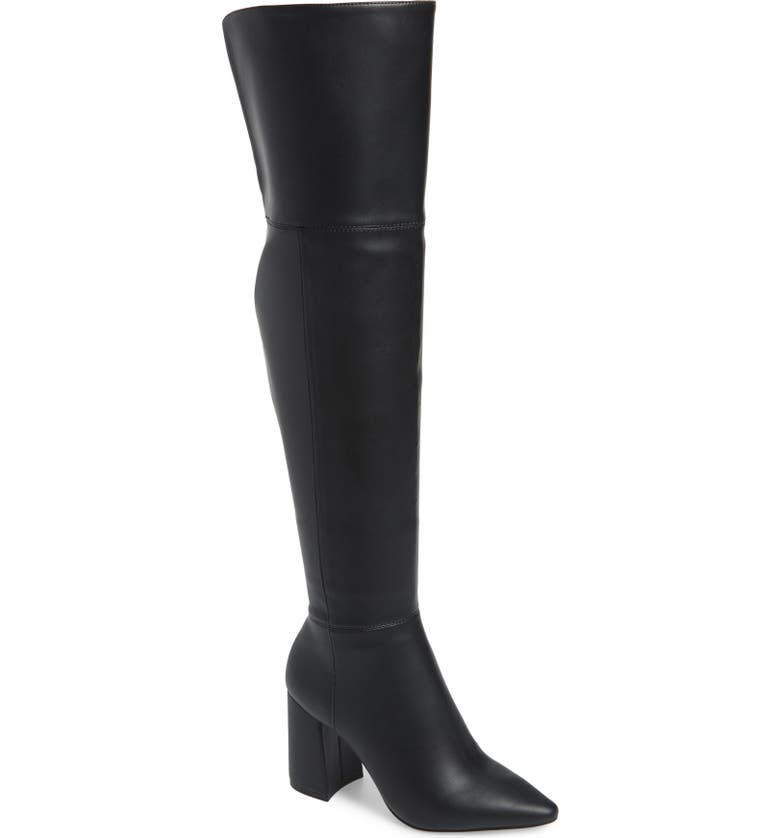 CHARLES BY CHARLES DAVID Viceroy Knee High Boot, Main, color, BLACK