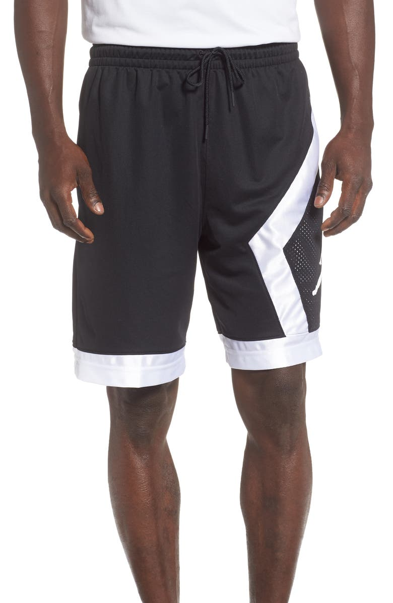 JORDAN Jumpman Diamond Athletic Shorts, Main, color, BLACK/ WHITE/ GUNSMOKE/ WHITE