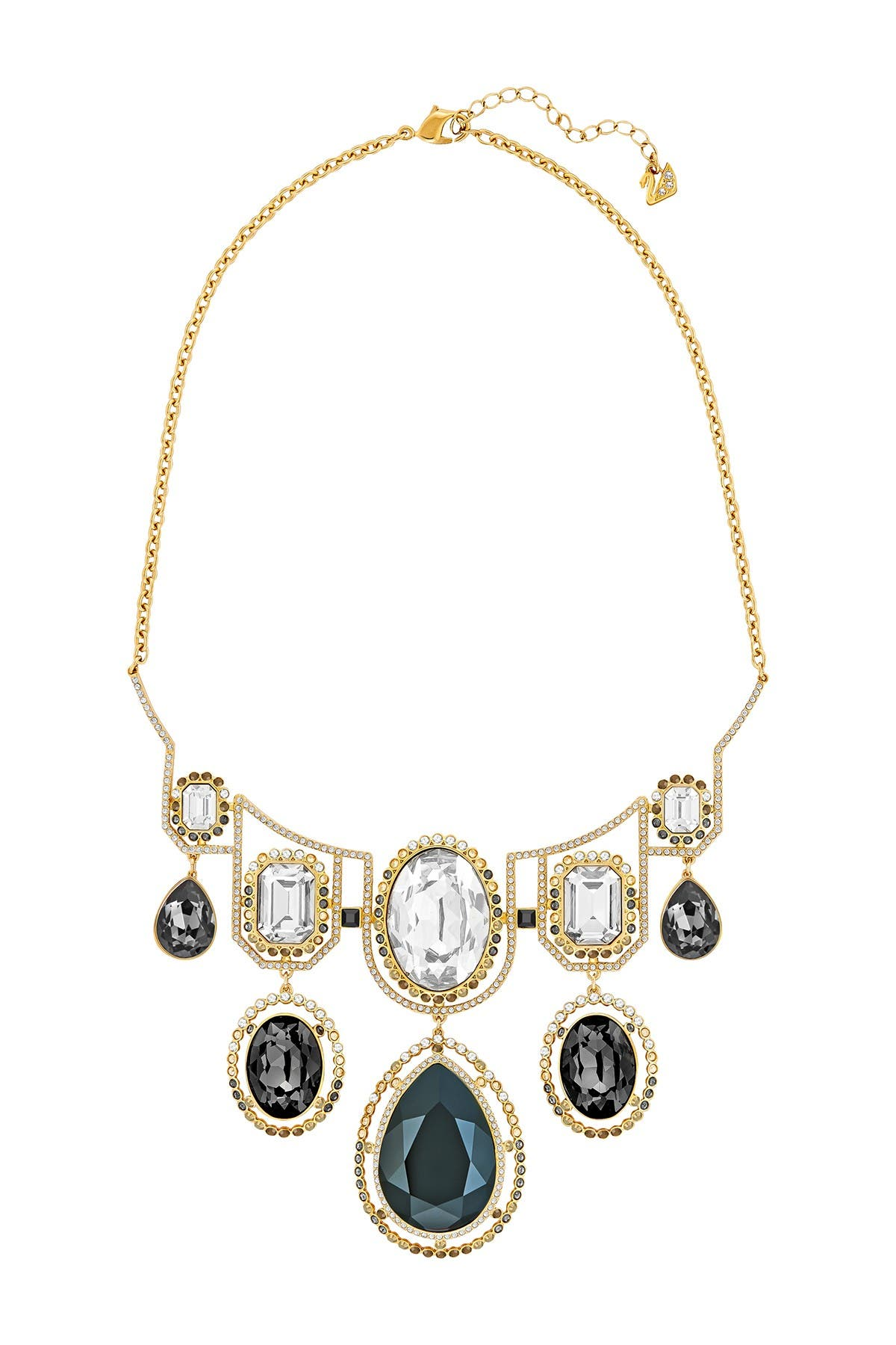 Image of Swarovski Darling Bezel Set Multicolored Swarovski Crystal Statement Necklace