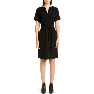 Lafayette 148 New York Jubilee Stretch Crepe Dress, Black