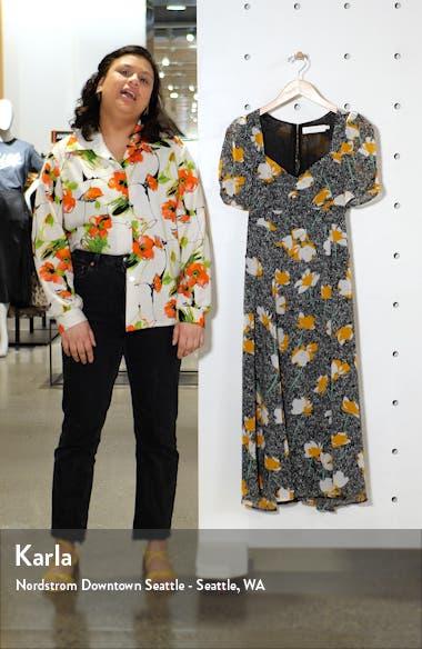 Zenn Floral Midi Dress, sales video thumbnail