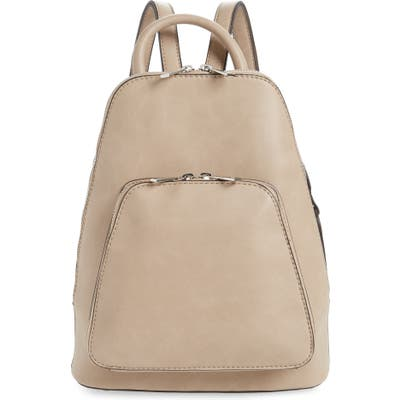 Sole Society Aushan Faux Leather Backpack - Beige
