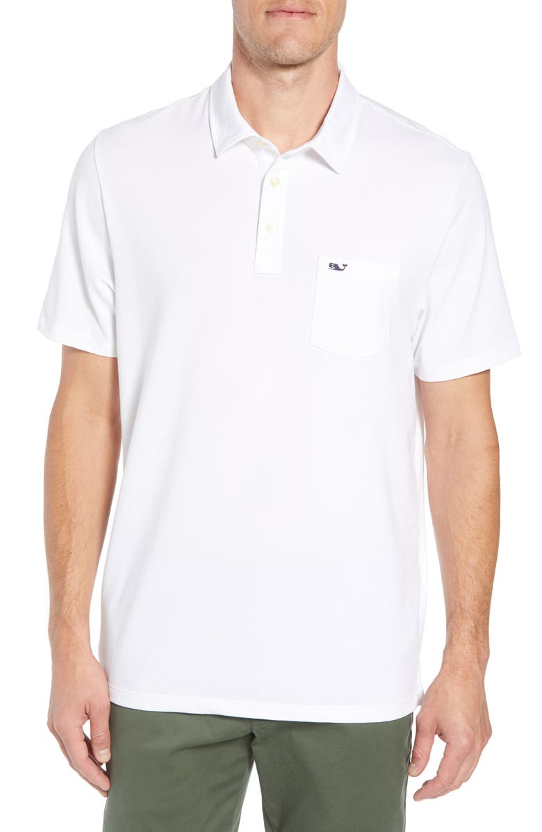 VINEYARD VINES Edgartown Polo Shirt, Main, color, WHITE CAP