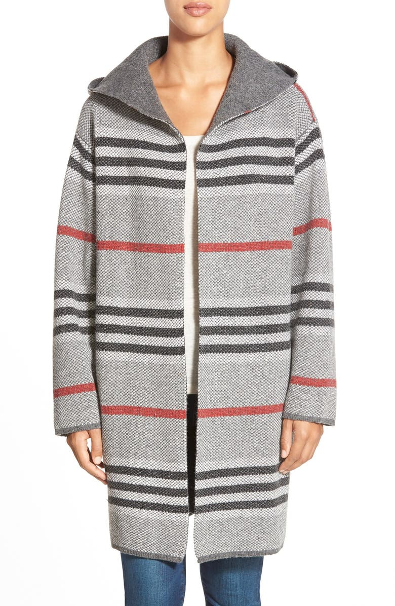 RD STYLE Stripe Hooded Sweater Coat, Main, color, 039