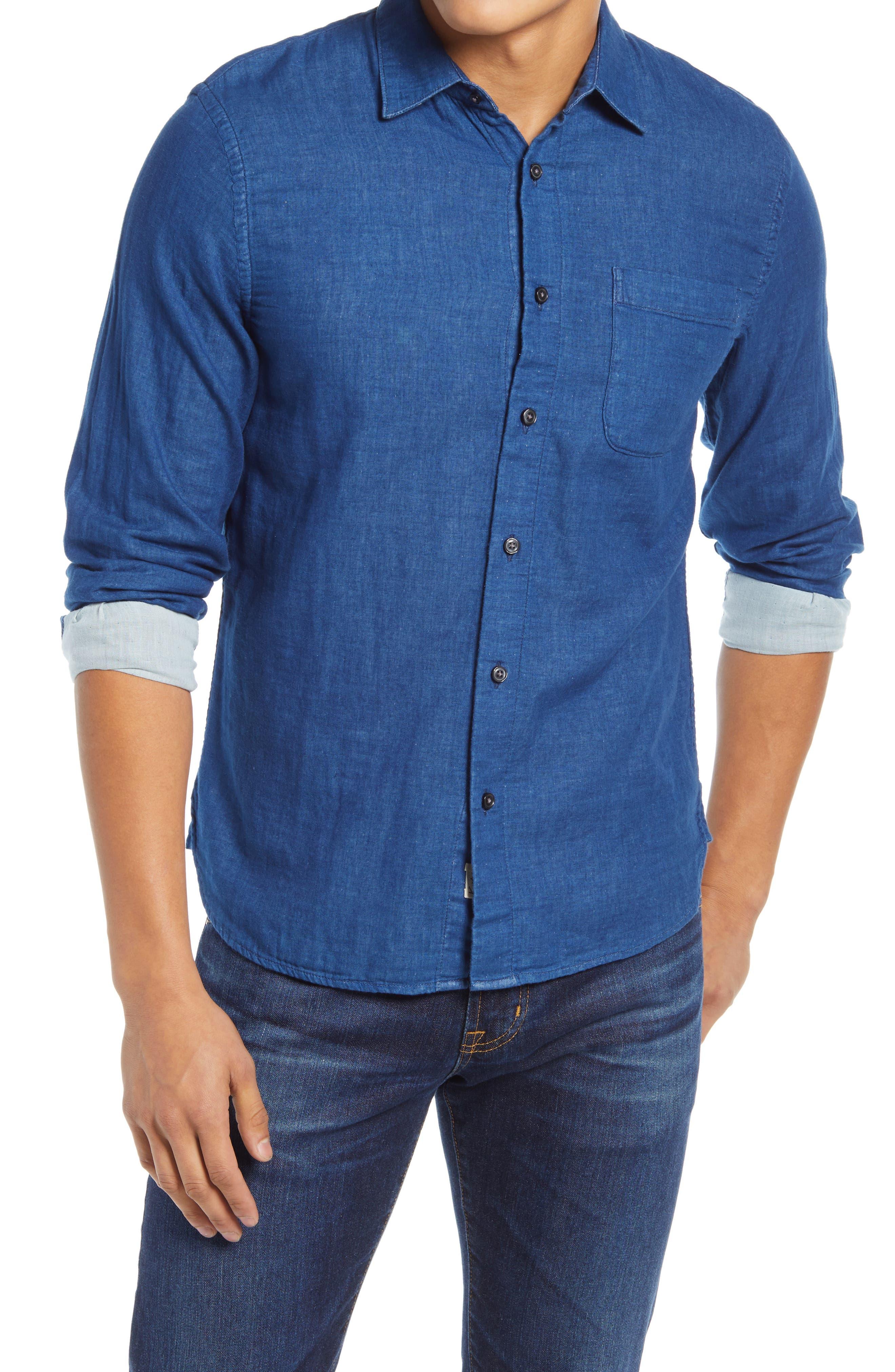 Slim Fit Double Gauze Button-Up Shirt
