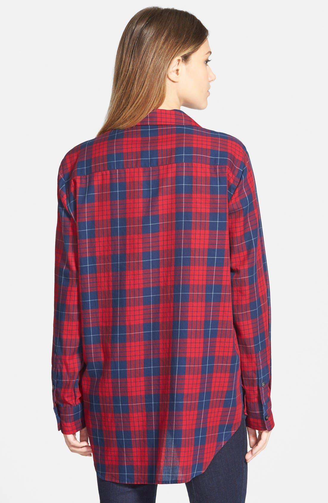 ,                             'Edina Plaid' Oversize Boyshirt,                             Alternate thumbnail 5, color,                             600