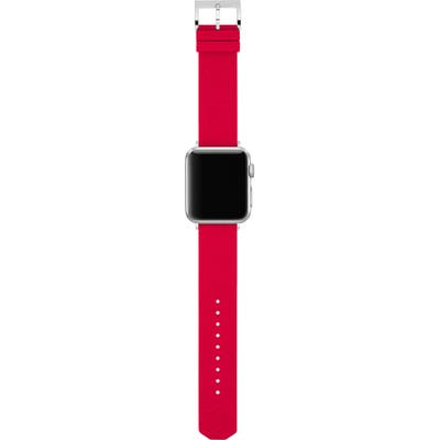 Tory Burch Double-T Link Embossed Silicone Apple Watch Strap