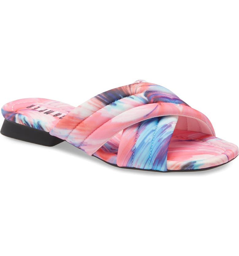 CAMPER TWS Slide Sandal, Main, color, MULTI COLOR FABRIC