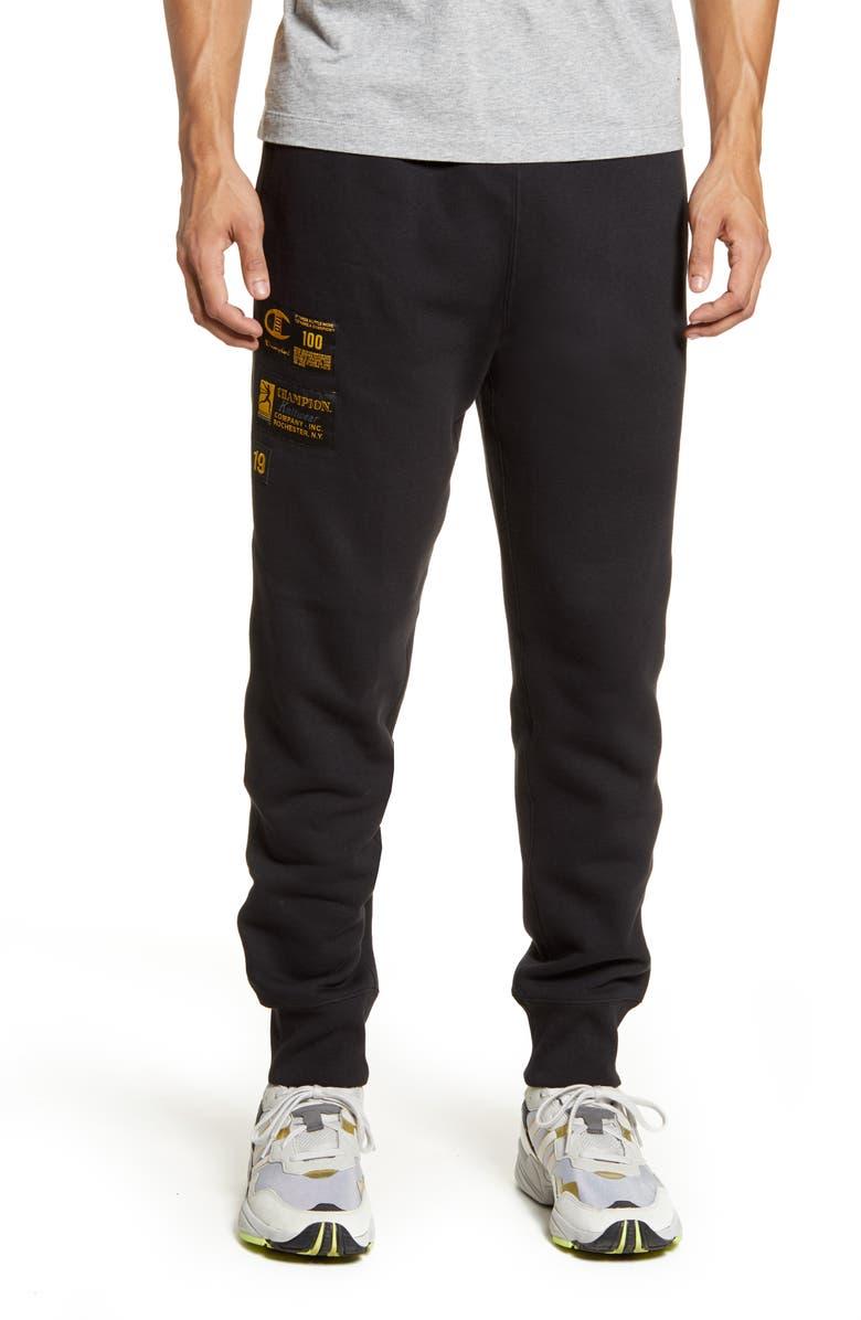 CHAMPION Century Collection Gold 19 Sweatpants, Main, color, BLACK
