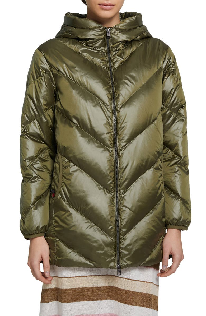 WOOLRICH Magnolia Water Repellent Down Puffer Jacket, Main, color, FADED OLIVE