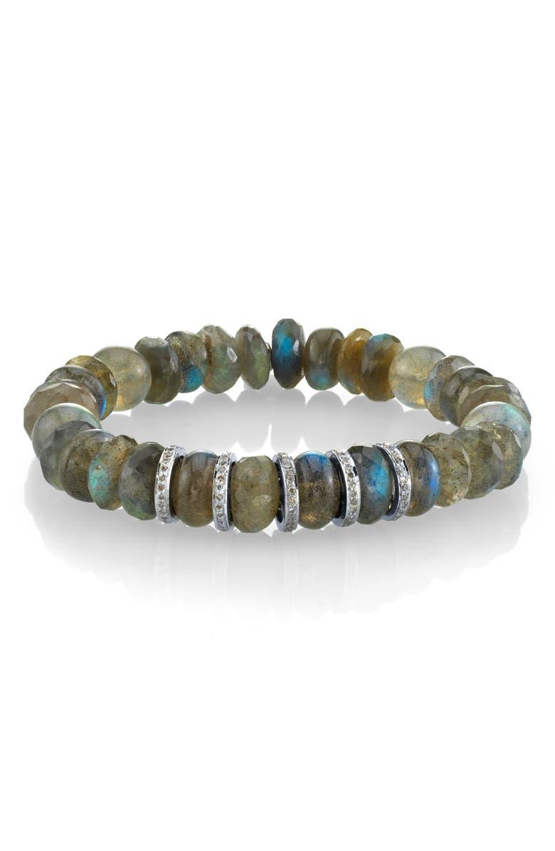 SHERYL LOWE Labradorite Rondelle Bracelet, Main, color, LABRADORITE