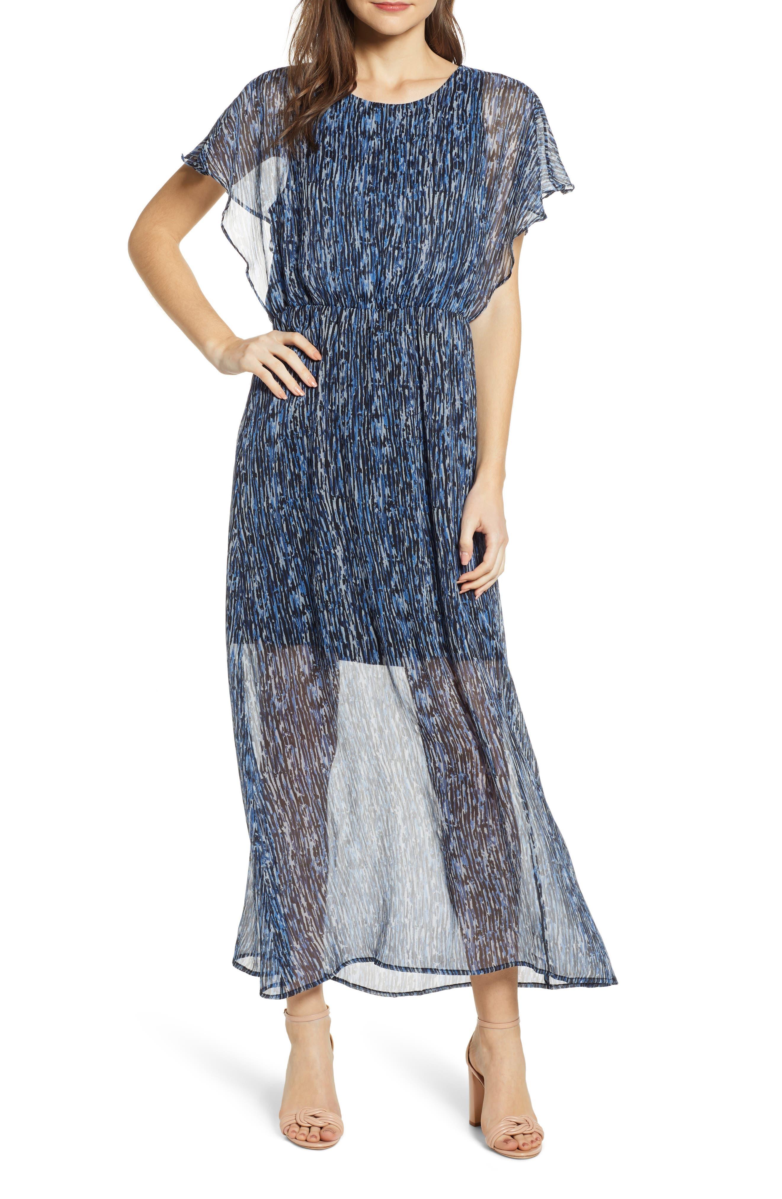 Vero Moda Fay Ruffle Sleeve Maxi Dress, Black
