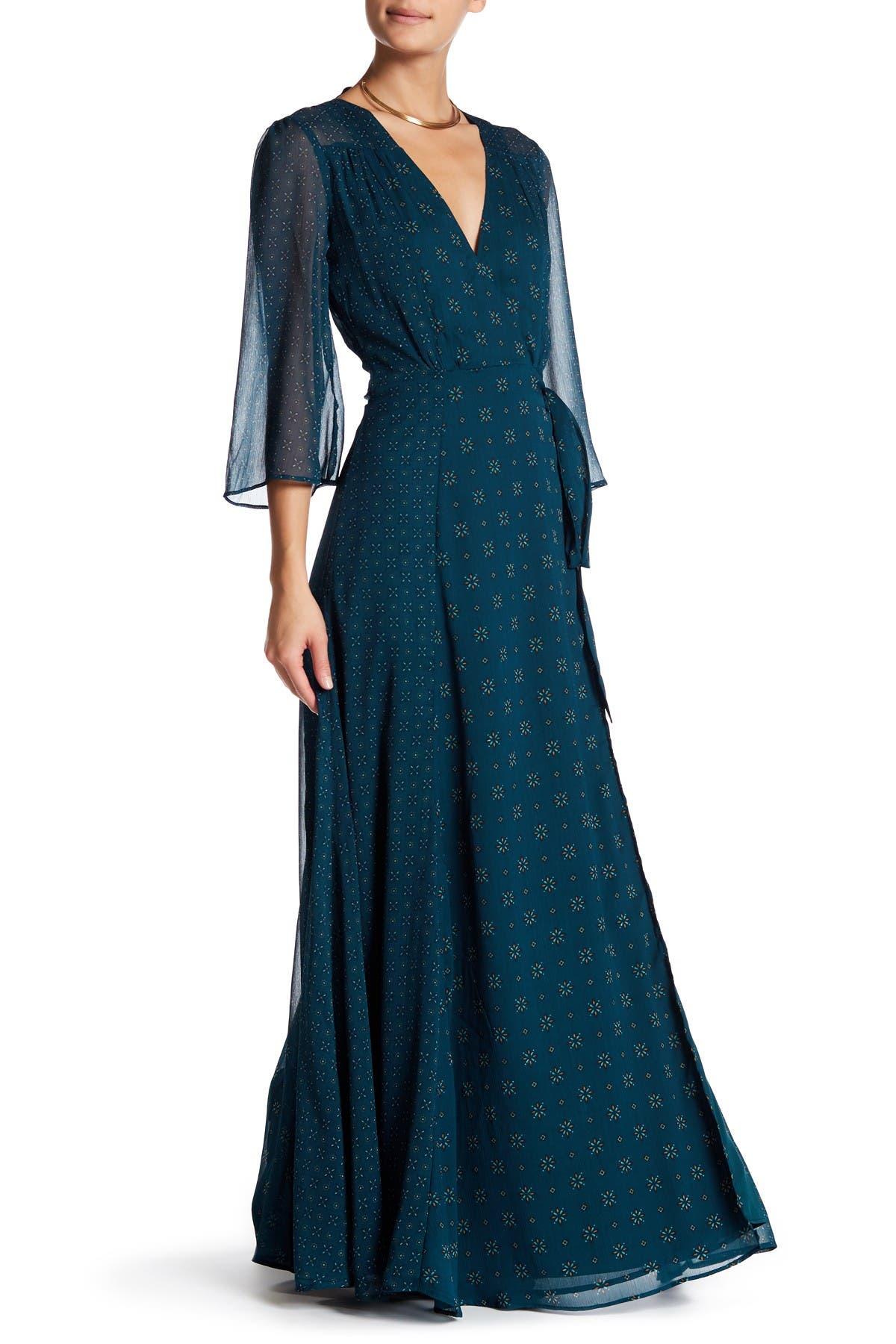 Image of Tularosa Jolene Wrap Maxi Dress