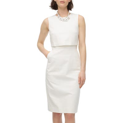 J.crew Going Places Cotton Dress, Ivory