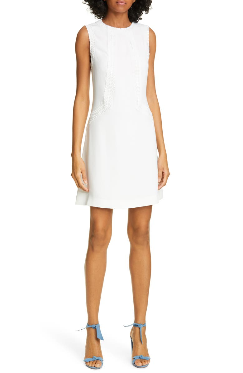 TED BAKER LONDON Sieera Lace Trim Sheath Dress, Main, color, IVORY
