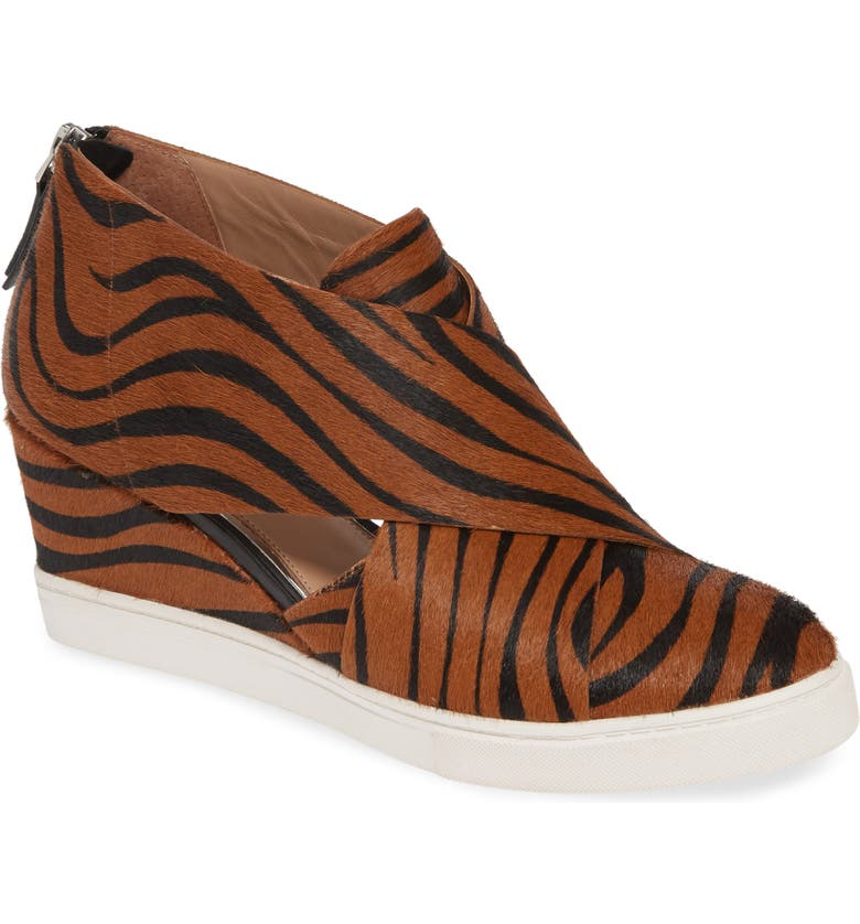 LINEA PAOLO Faith Wedge Pump, Main, color, ZEBRA PRINT CALF HAIR