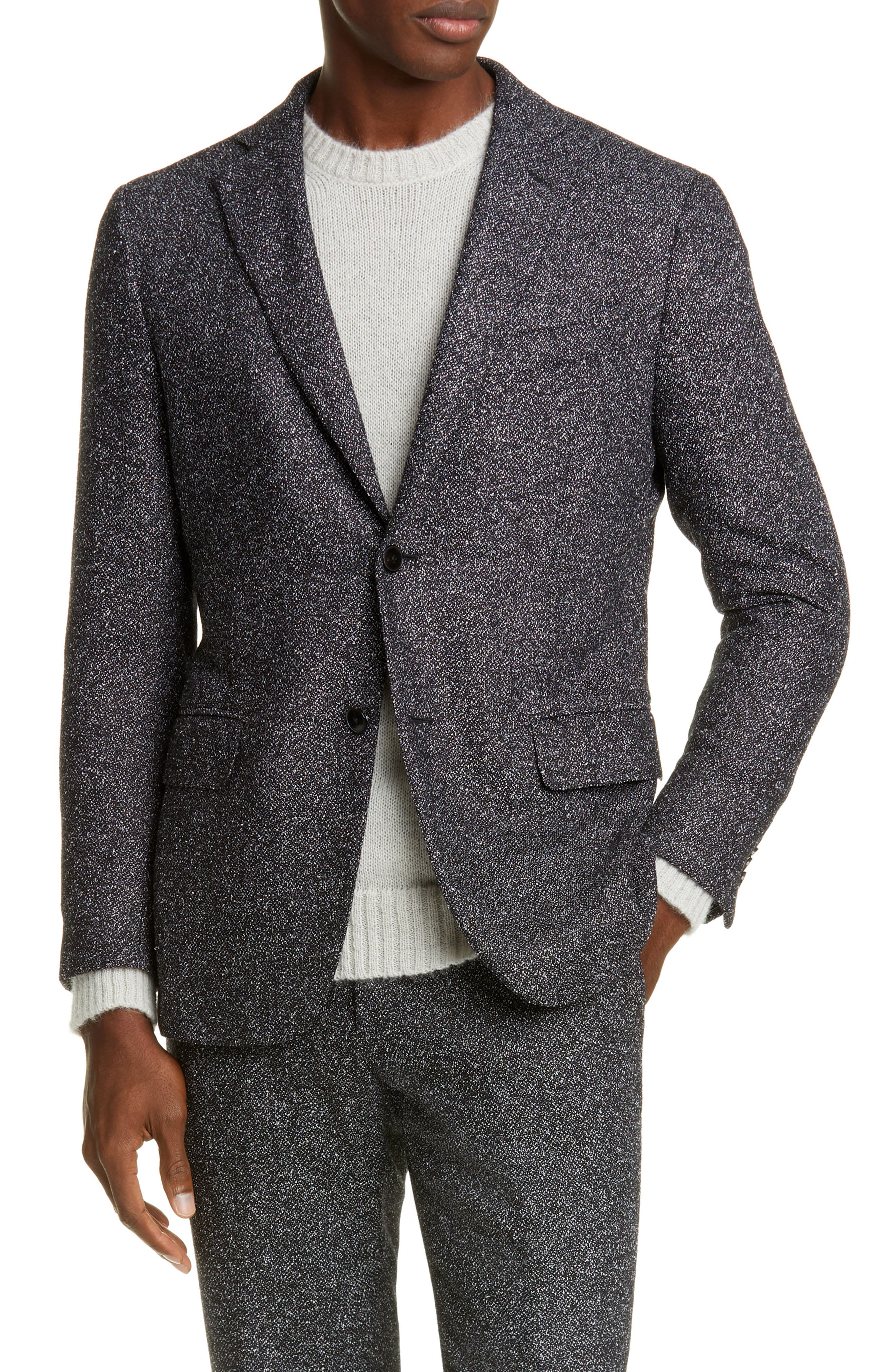 Image of Eidos Napoli Balthazar Trim Fit Mélange Sport Coat