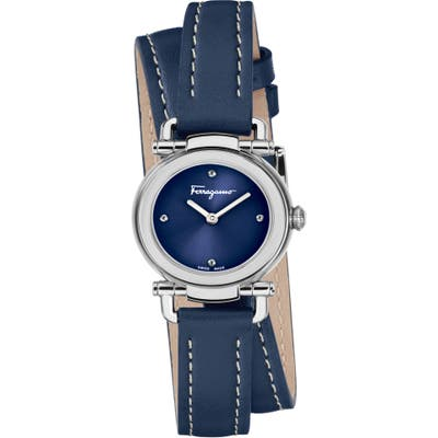 Salvatore Ferragamo Gancino Leather Strap Watch, 2m