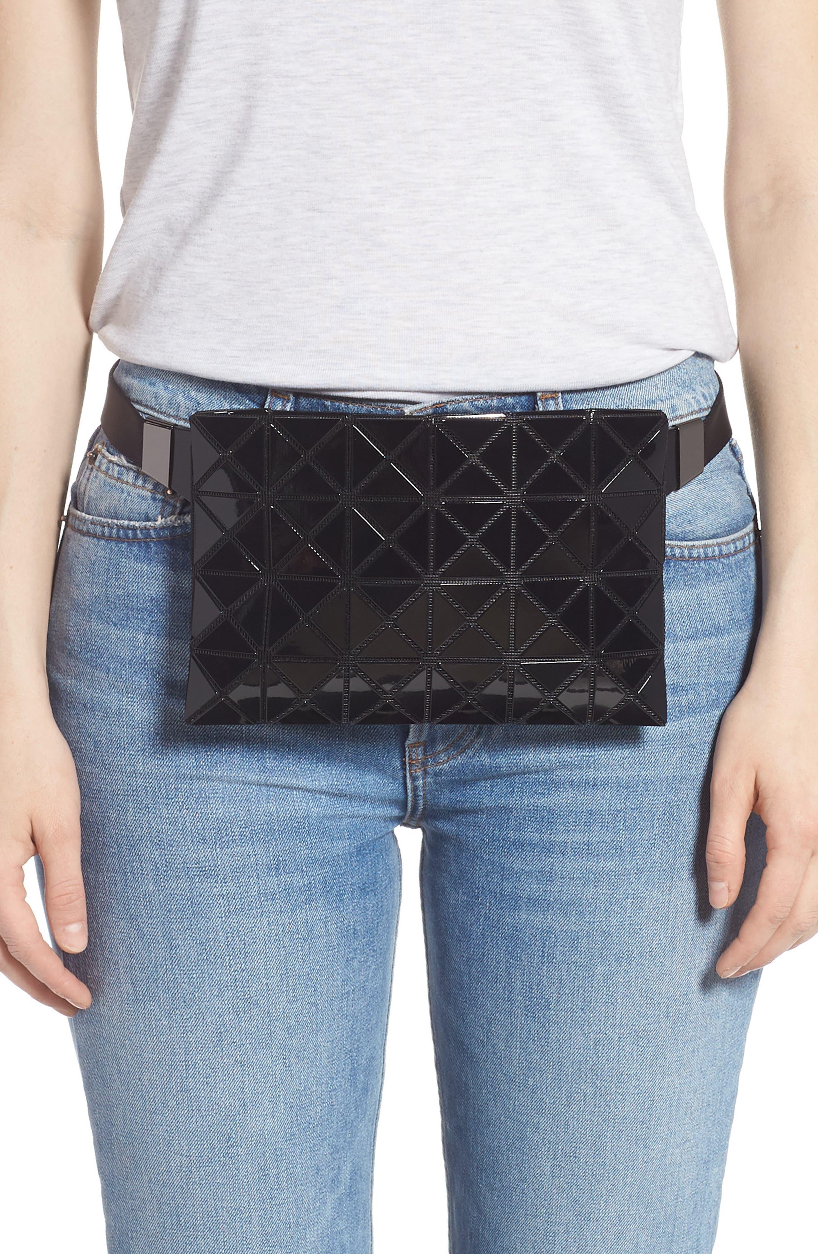 ,                             Prism Belt Bag,                             Alternate thumbnail 2, color,                             JET BLACK