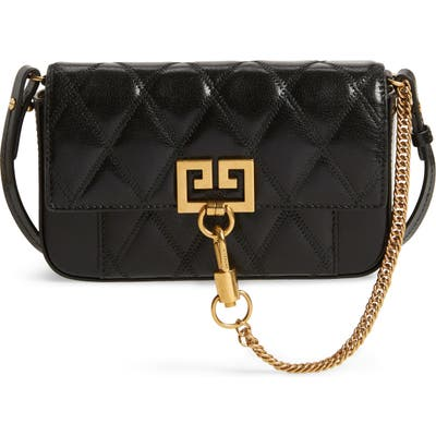 Givenchy Mini Pocket Quilted Convertible Leather Bag - Black