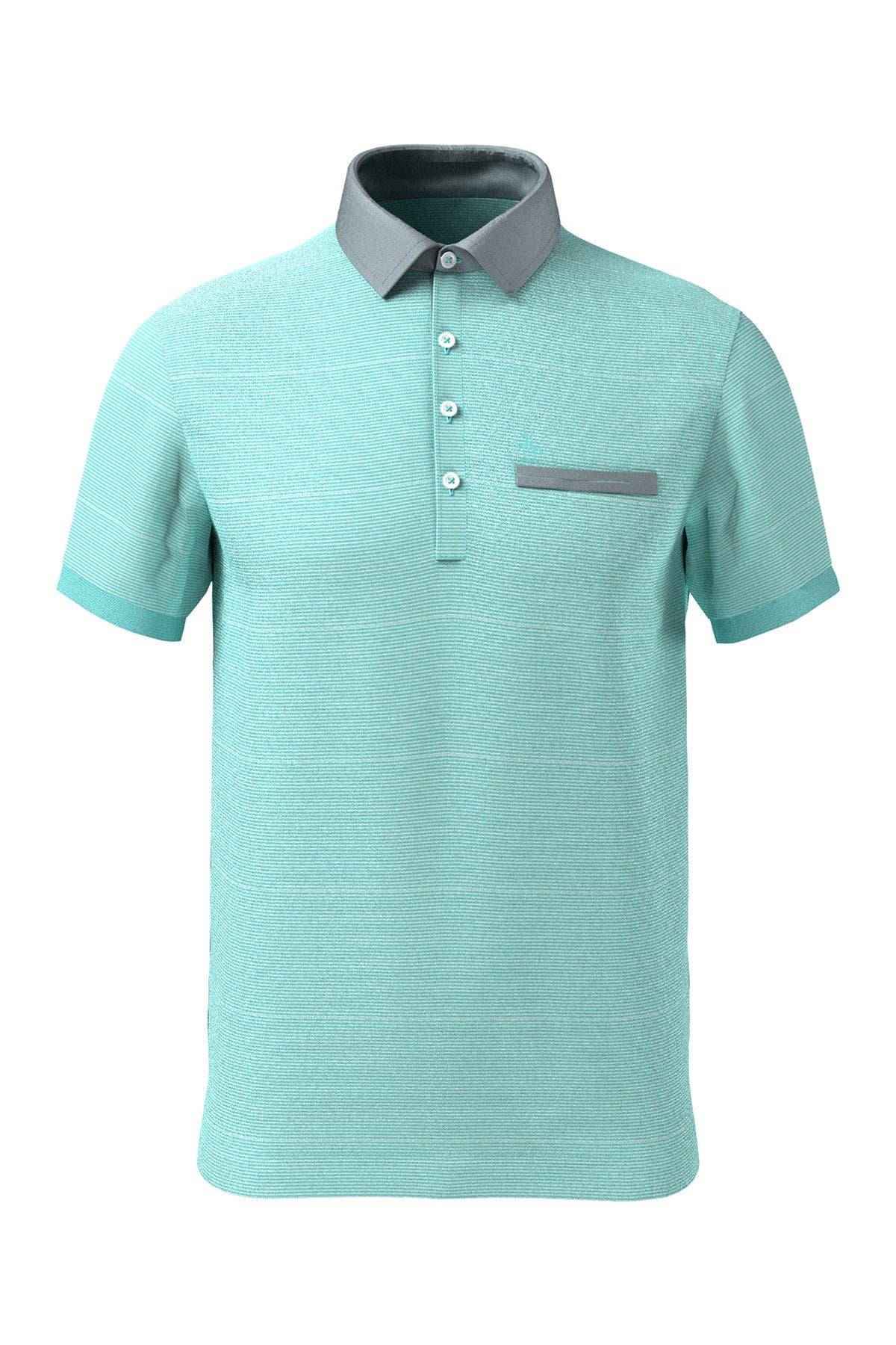 Image of Original Penguin Feeder Stripe Short Sleeve Polo Shirt