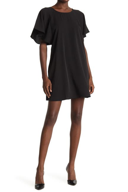 Image of HYFVE Flutter Sleeve Mini Dress