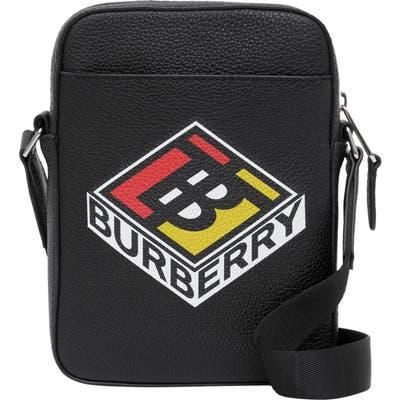 Burberry Thornton Leather Crossbody Bag - Black