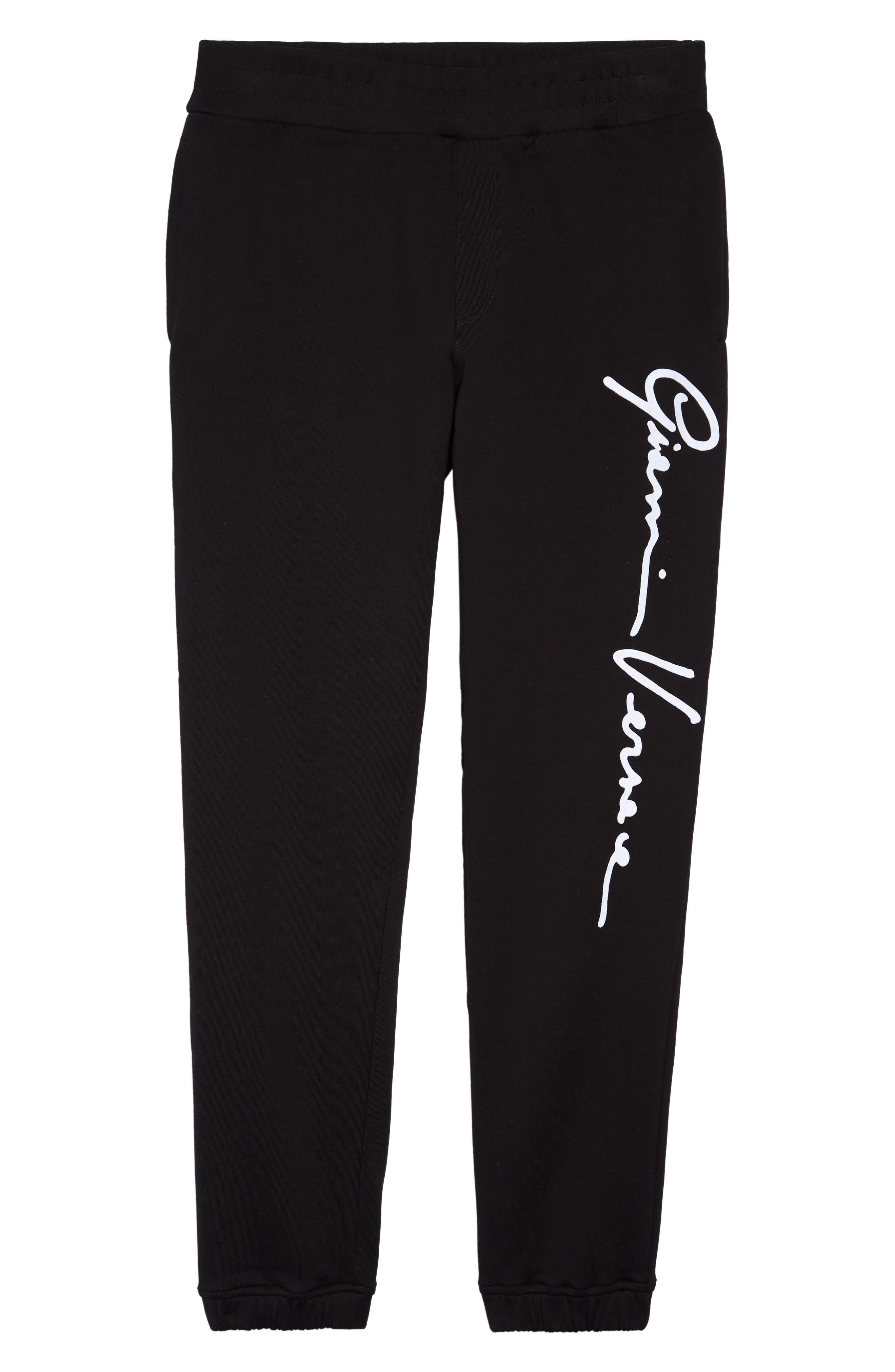 Men's Versace Gianni Versace Signature Sweatpants,  Large - Black