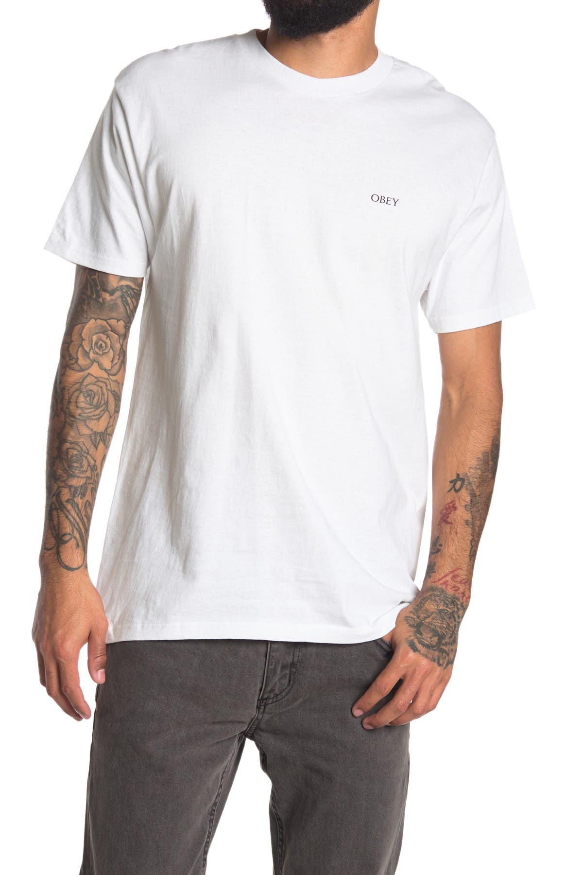 Image of Obey Collage Logo T-Shirt