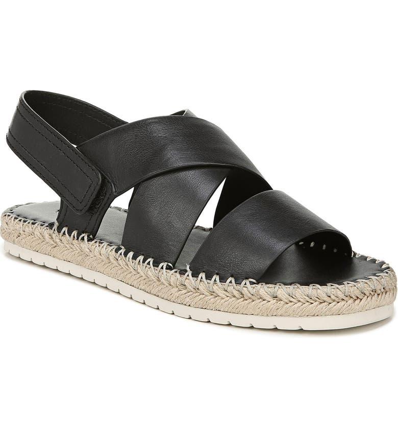 VINCE Tenison Espadrille Sandal, Main, color, BLACK