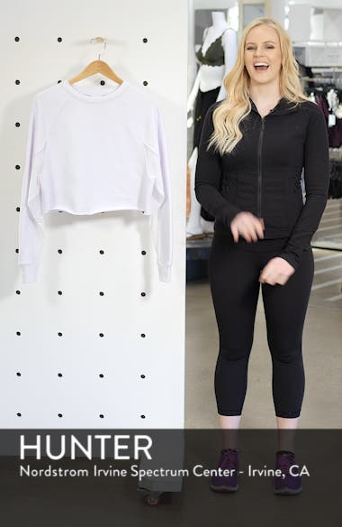 Transcend Cutout Crop Pullover, sales video thumbnail