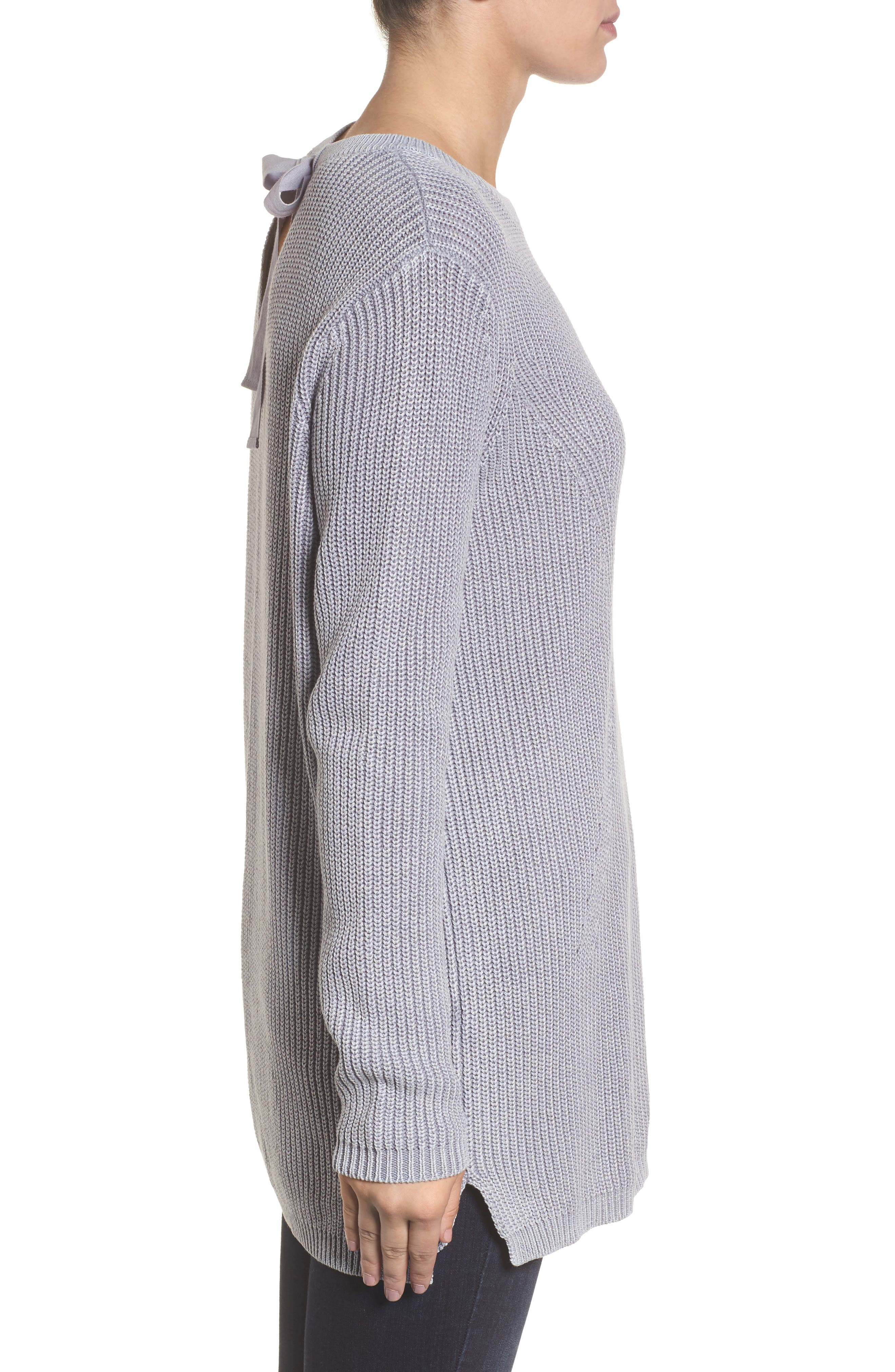 ,                             Tie Back Tunic Sweater,                             Alternate thumbnail 51, color,                             420