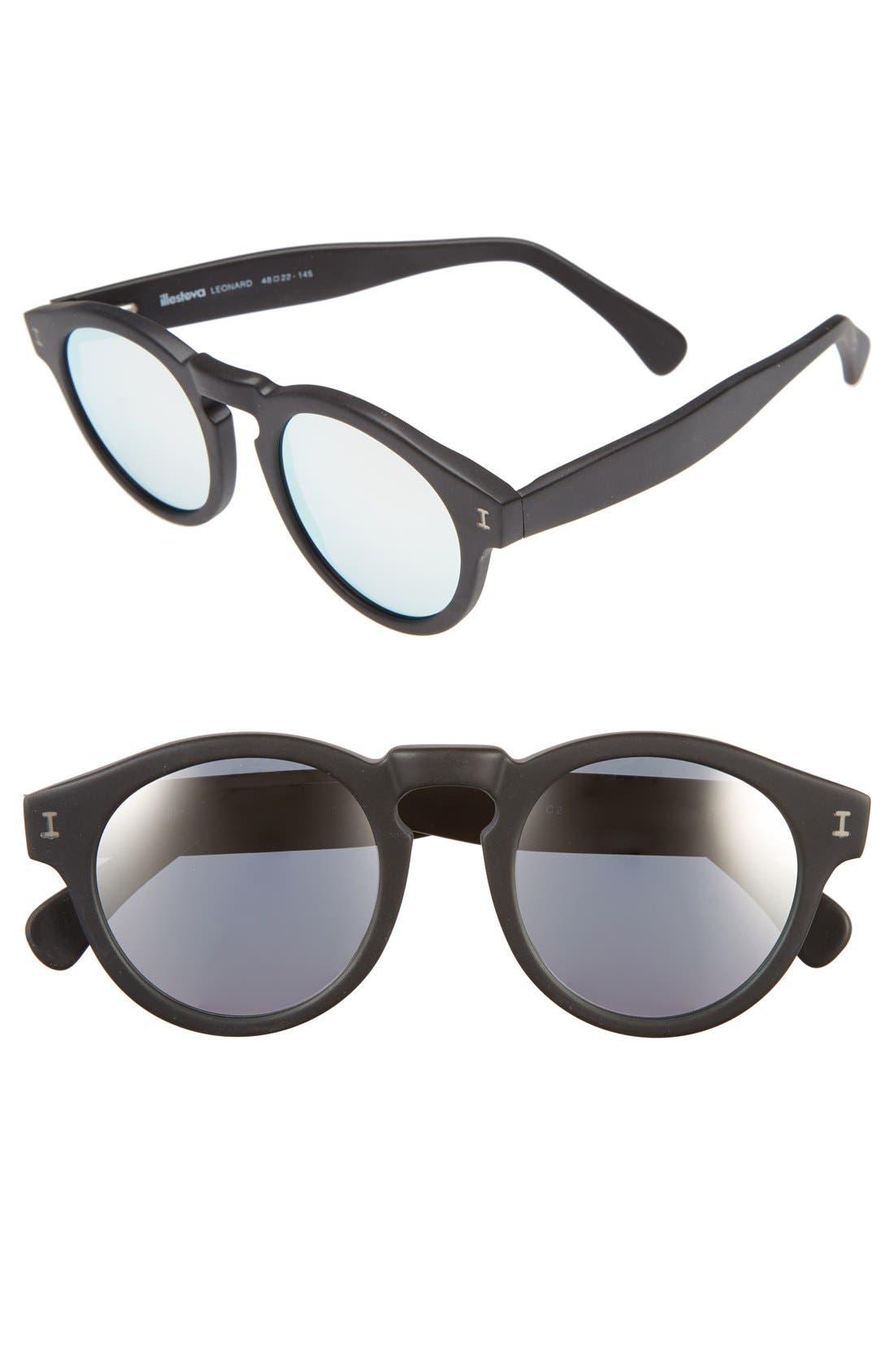 ,                             'Leonard' 47mm Sunglasses,                             Main thumbnail 3, color,                             002