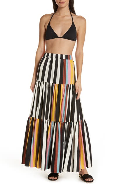 Tory Burch Skirts SHIBORI STRIPE COVER-UP SKIRT