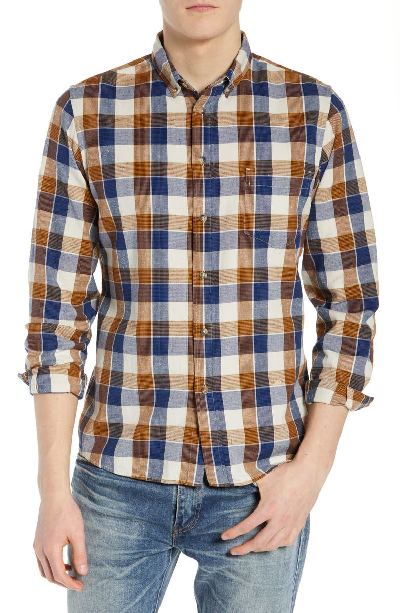 LEVI'S<SUP>®</SUP> MADE & CRAFTED<SUP>™</SUP> Standard Plaid Sport Shirt, Main, color, 400
