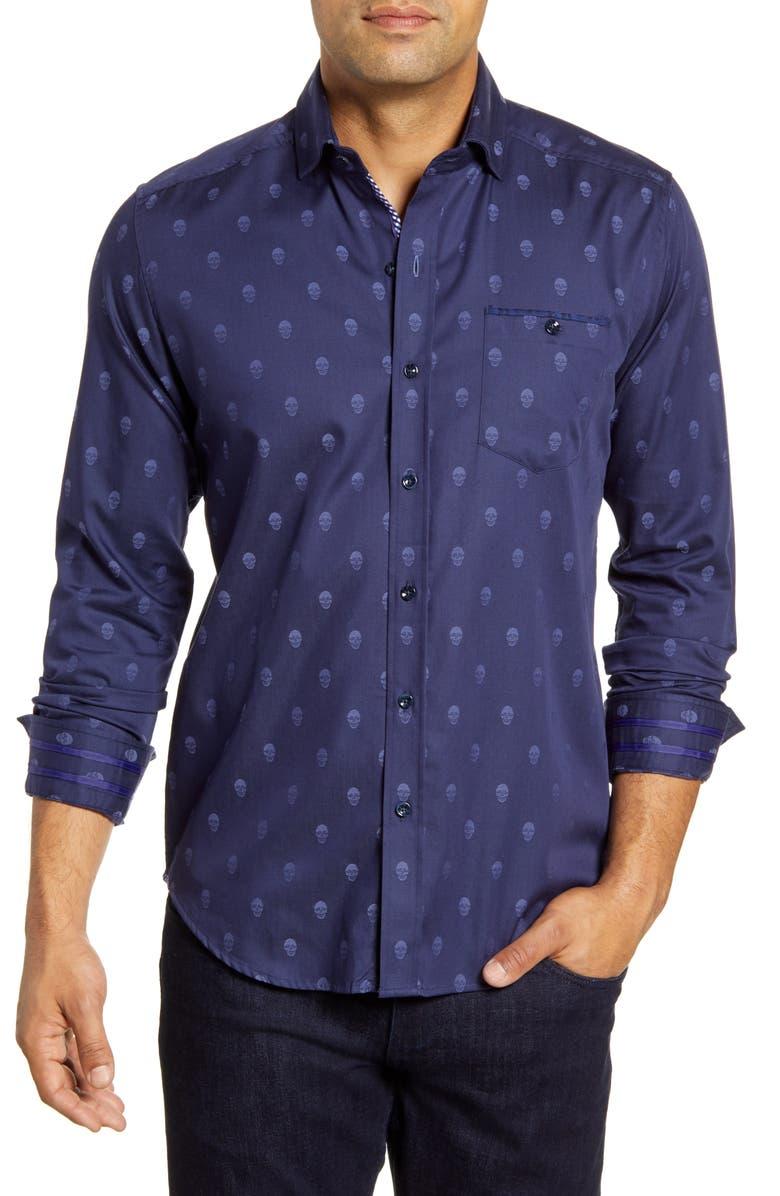 ROBERT GRAHAM Wilshire Regular Fit Button-Up Sport Shirt, Main, color, 410
