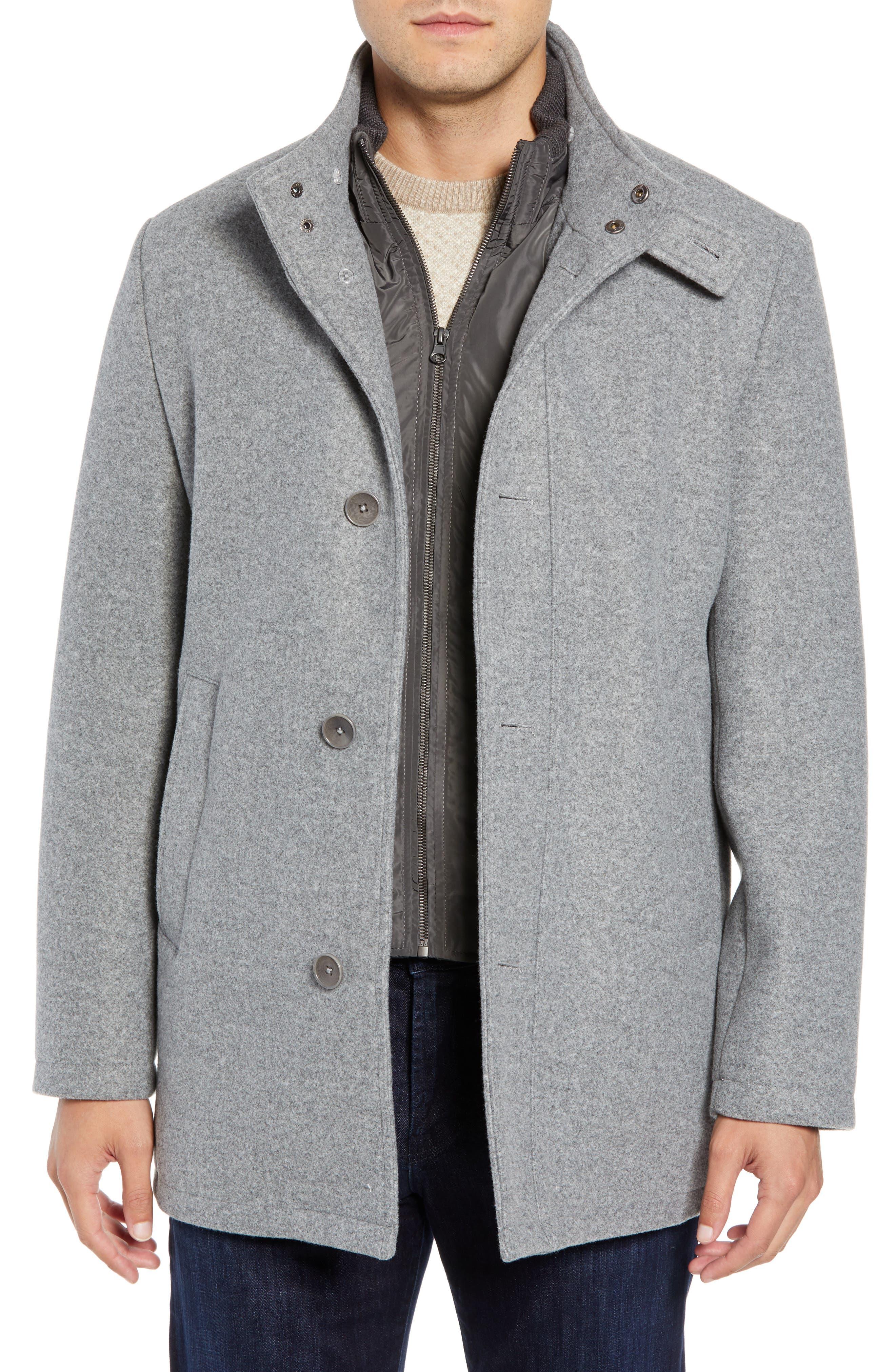 Westcott Wool Car Coat, Main, color, LIGHT GREY