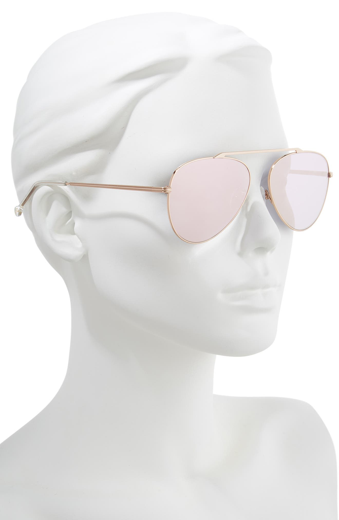 ,                             Cosmic 58mm Aviator Sunglasses,                             Alternate thumbnail 2, color,                             ROSE GOLD