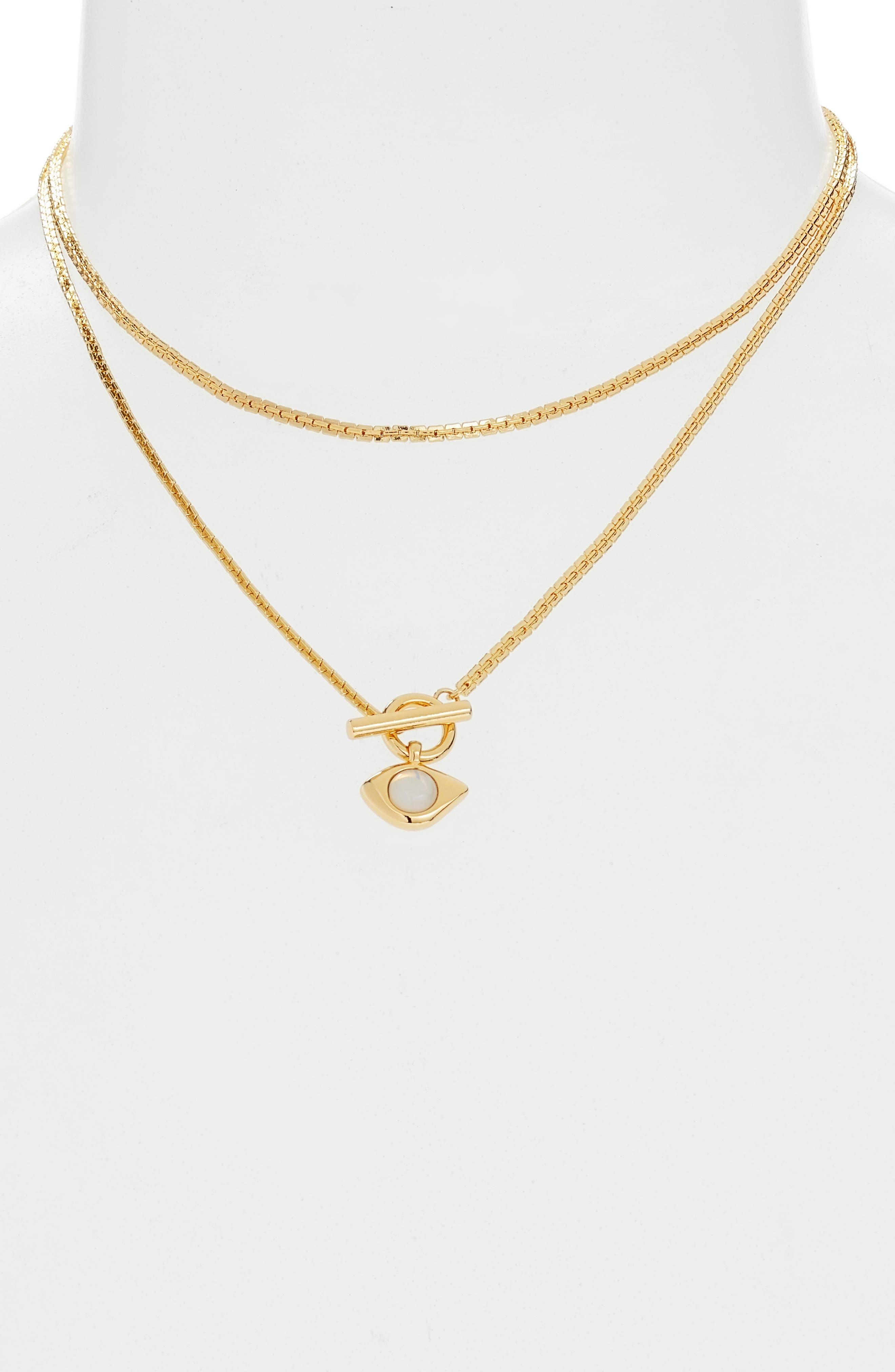 Veaux Wrap Toggle Necklace