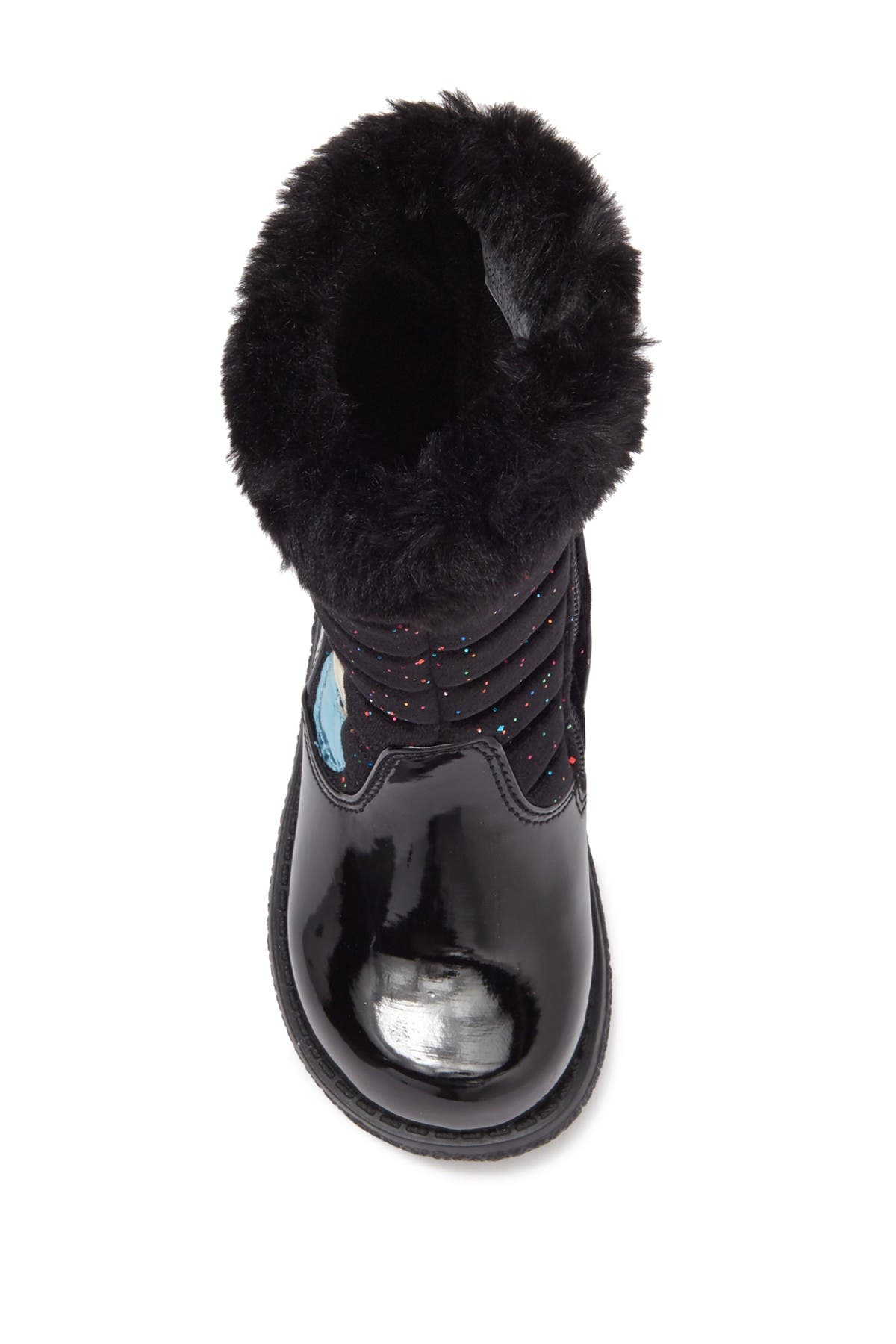 Rachel Shoes Libby Faux Fur Trim Quilted Boot