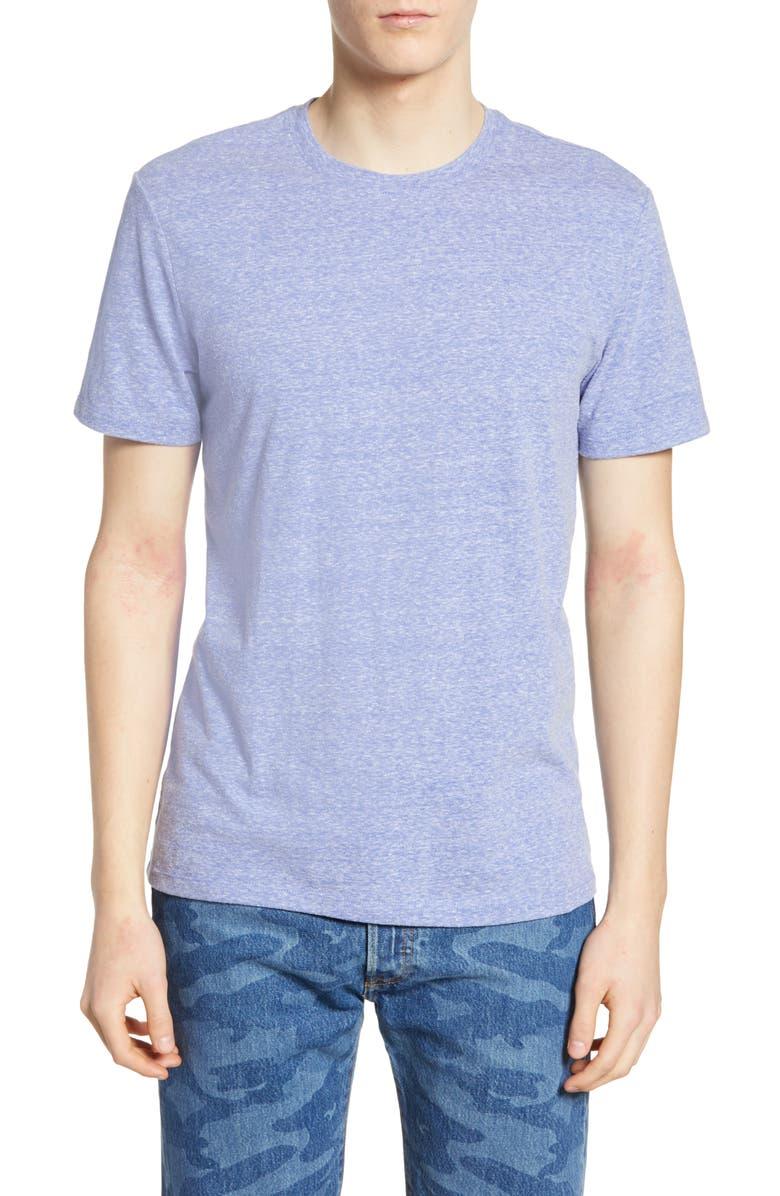 THE RAIL Textured Slub T-Shirt, Main, color, BLUE AMPARO