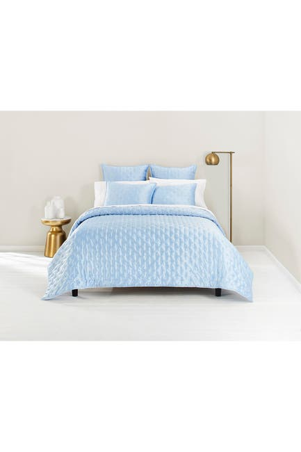 Image of Ted Baker London Light Blue Bow King Coverlet