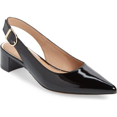 Linea Paolo Cella Slingback Pump- Black