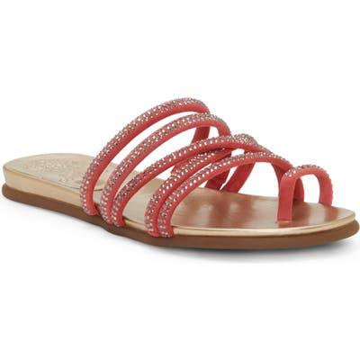 Vince Camuto Ezzina Crystal Embellished Slide Sandal- Coral