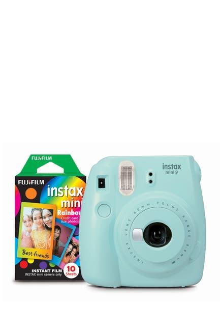 Image of INSTAX MINI BY FUJIFILM Mini 9 Ice Blue Camera Bundle